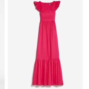 Express ruffle sleeve maxi dress